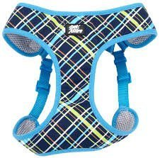 "Coastal Pet Attire Dog XXS Blue Plaid wrap Harness 14-16"" Girth"