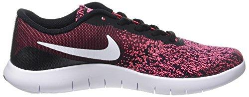 Nike Flex Contact (GS), Zapatillas de Trail Running Para Mujer Multicolor (Black/White/Racer Pink 001)