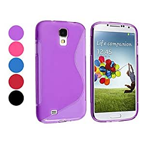 Pure Color TPU Soft Case for Samsung Galaxy S4 I9500 (Assorted Color) --- COLOR:Purple