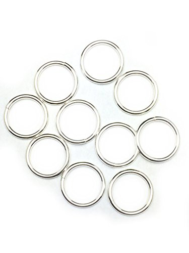 10 Sterling Silver Round Open Jump Rings 12.0mm 16 Gauge by Craft Wire