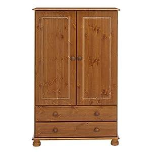 Steens Richmond Combi Pine Wardrobe, Brown