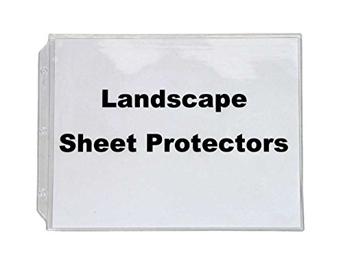 Legal Landscape Sheet Protectors, for Legal Size Paper, 10 In a Set, Crystal Clear, Heavy Duty, Horizontal Format.