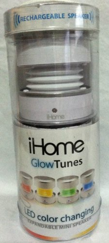 iHome Glow Tunes LED Color Changing Rechargeable Portable Sp