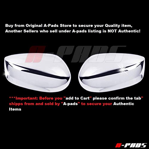 A-PADS 2 Chrome Mirror Covers for Honda Accord 2008-2012 - Chromed Cap Mirrors Pair