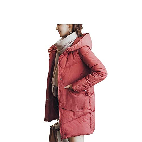 Ayguste In Invernale Rosso Cotone Con Cappuccio Imbottito Cappotto UFgq6
