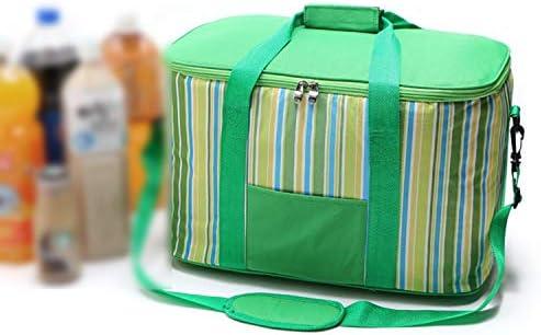 ピクニックハイキングカヤックキャンプを収集するための34 Lピクニックバッグ断熱大ピクニックバスケットピクニックバックパックランチトート