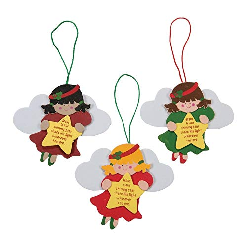 3 Little Angels Christmas Tree Religious Ornaments Foam Craft Kits (12)