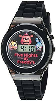 Five Nights at Freddy's Boy's Quartz Plastic and Rubber Casual Watch, Color:Black (Model: fnf3004)
