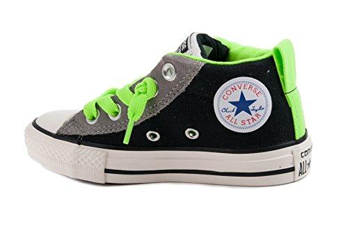 CONVERSE scarpe SNEAKER BAMBINO 652739C BLACK+MOUSE+N.GREEN PE16