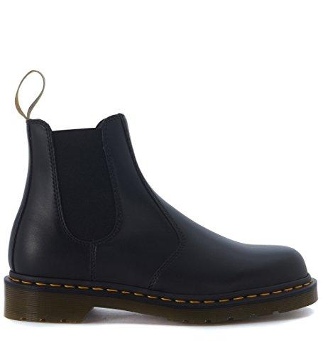 Dr. Martens Mens Vegan 2976 Felix Rub Off Black Synthetic Leather Boots 10.5 US - Rub Off Black Leather Boots