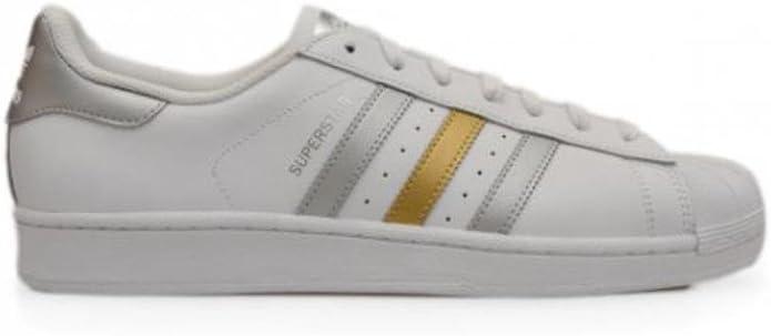 adidas , Herren Sneaker Low Tops, weiß White Gold Silver
