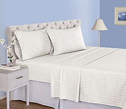 500 Thread Count Cotton Sheets Set   100 Pima Cotton Pure Sateen Weave Long  Staple Ultra