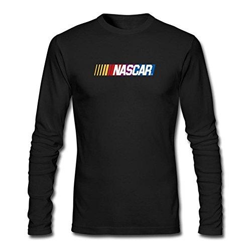 XIULUAN Men's NASCAR Logo National Association For Stock Car Auto Racing Long Sleeve T-shirt L ()