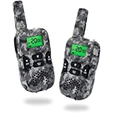 Kids Walkie Talkies 22 Channels 3 Miles FRS/GMRS Hand Held Walkie Talkie for Kids Toys for 4-5 Year Old Boys (Camouflage)