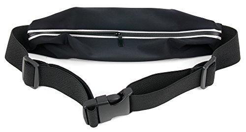 Smartphone-Tasche für Bauch, Hüfte & Gesäß mit verstellbarem Steckverschluss und durchsichtigem Bedienfenster für Apple iPhone SE
