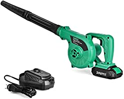 K I M O. Cordless Leaf Blower - 20V 2.0 Ah Lithium Battery 2in1 Sweeper/Vacuum for Blowing Leaf, Clearing Dust & Small...