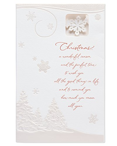 (American Greetings Winter Scene Christmas Card with Lights)