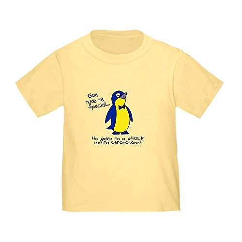 CafePress God Made Me Special 1 (Down Syndrome) Toddl Cute Toddler T-Shirt, 100% Cotton Daffodil Yellow
