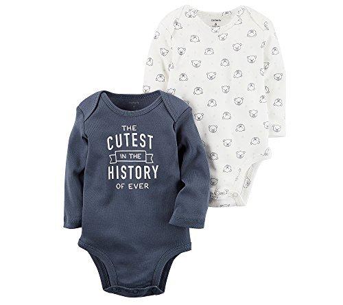 Carters 2 Pack Bodysuits - Carter's Baby Boys' 2-Pack Bodysuit Set 3 Months