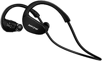 Mpow Cheetah Auriculares estéreo deportes Bluetooth 4.1 para correr cascos deportivos de manos libre, Deportes Auricular con Tecnología aptX Avanzada para iPhone, iPad, LG, Samsung y Otros Teléfonos Móviles Android, color Negro