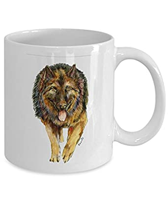 German Shepherd Dog Mug - Style No.2 - Cool Ceramic Alsatian Coffee Cup (15oz)