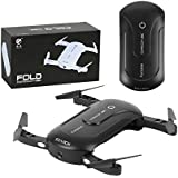 Foldable RC Mini Drone with Altitude Hold and Headless Mode 2.4GHz 6-Axis Gyro Pocket Quadcopter with One-Button 360° Flip,Fun Gift (Black)