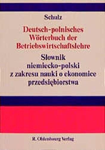 Deutsch   Polnisches Wörterbuch Der Betriebswirtschaftslehre