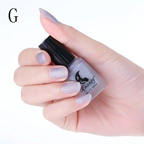Euone Clearance Sales,8 Colors Optional 6 ml Scrub Bottles Matte Woman's Nail Art Polish -