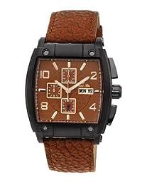 Porsamo Bleu London Genuine Leather Black & Brown Men's Watch 142DLOL