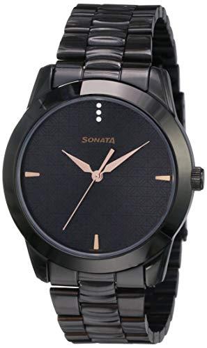 Sonata Analog Black Dial Men's Watch NM7924NM01 / NL7924NL01