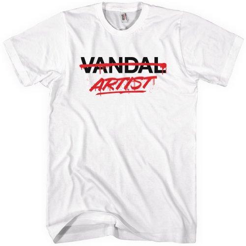 Special Blends Men's Artist Not Vandal T-shirt - White, X-Large