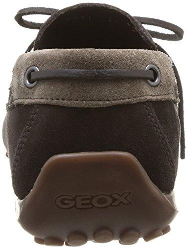 Geox U SNAKE MOC. I - Mocasines de lona hombre Marron (Coffee/Dove Grey)