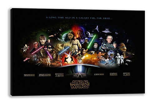 "STAR WARS SAGA THE FORCE AWAKENS CANVAS WALL ART (30"" X 18"")"