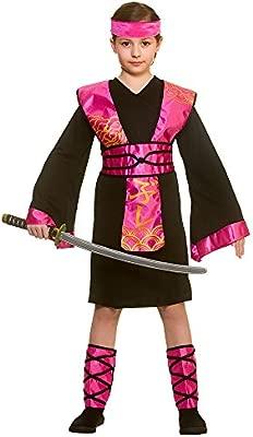 Wicked Costumes Disfraz de Ninja Negro / Rosa Grande para ...
