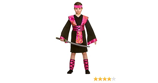 Wicked Costumes Disfraz de Ninja Negro / Rosa Grande para Niña ...