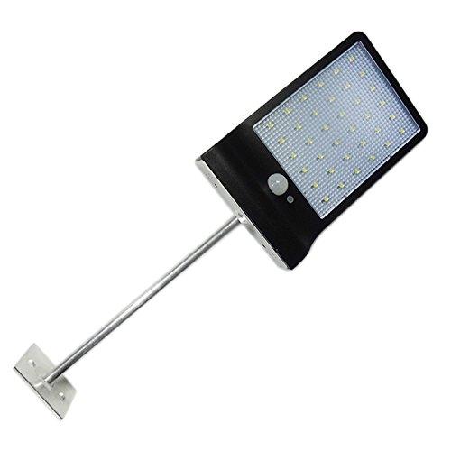 Gosear LED Impermeable luz Solar Movimiento de Seguridad de Sensor de Pared de la Lámpara de luz con Barra de Extensión...