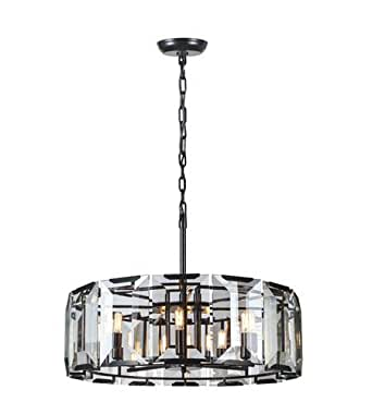 Pendants 8 Light With Flat Black Finish E12 Bulb 30 inch 320 Watts - World of Classic