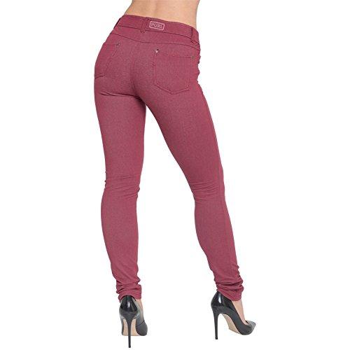 Leggings Trousers Jeggings Burgundy UK AK Skinny Plus Jeans Pants Stretchy Size Womens Apparel Ladies Fit Denim HWfqZPfYp