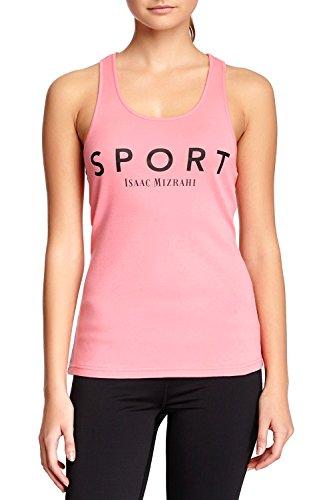 Isaac Mizrahi Women's Sport Basic Logo Racerback Tank - Bubblegum - - Bubble Tank Gum