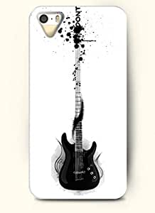 OOFIT Phone Case Design with Black Electronic Guitar for Apple iPhone 4 4s 4g by supermalls