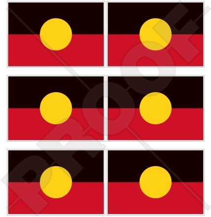 AUSTRALIA ABORIGINAL Flag, Australian 40mm (1,6