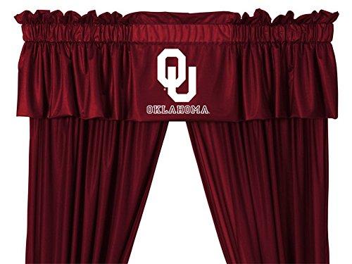 University Drape (University of Oklahoma Sooners Curtains Window Valance and Drapes Set (84 Inch Set))