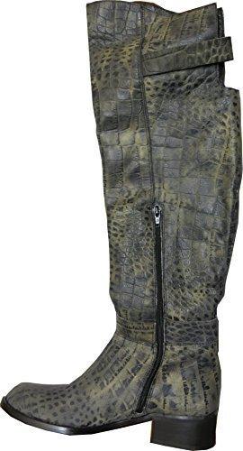 Stiefel von chillany aus Leder Grau