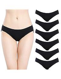 Closecret Women Lingerie Multi Pack Comfort Cotton Stretch Bikini Panties Underwear