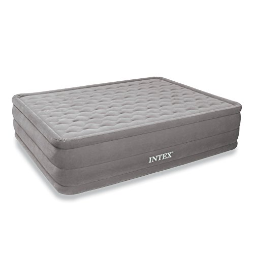 (Intex Ultra Plush Airbed with Built-in Electric Pump, Queen, Bed Height 18