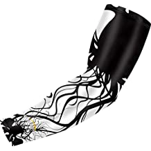COOLOMG Youth Anti-Slip Arm Sleeves Cover Skin UV Protection Sports Adult