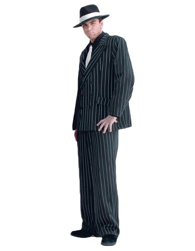 Men's Deluxe Gangster Clyde Theater Quality Costume, (Bonnie & Clyde Costumes)