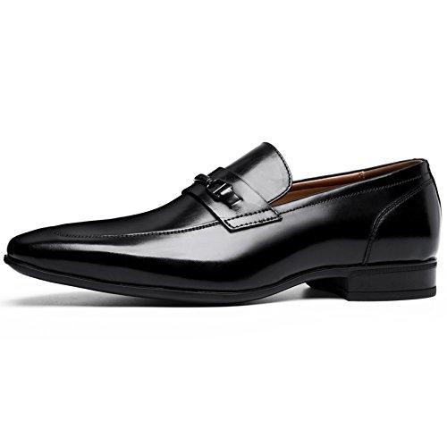 Uomo Mocassini Casual Uomo Desai Liscia Comode di Eleganti Nero Scarpe Loafers Stile Pelle Scarpe g5qxwxaZ