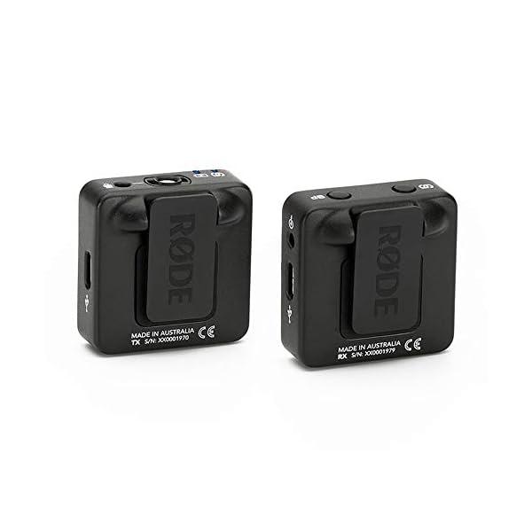 Rode microphones Wireless GO - Sistema microfono wireless compatto, 2.4GHz, Fino a 70 m di raggio, Nero 2 spesavip
