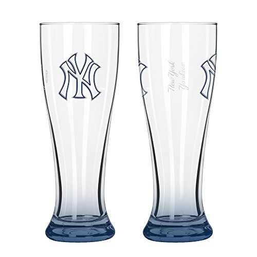 MLB New York Yankees Elite Pilsner Set (2-Pack), 16-Ounce